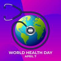 Illustration du modèle de conception icône du logo journée de la santé mondiale