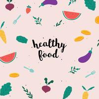 Illustration d'aliments sains vecteur