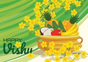 Heureux Illustration vectorielle Vishu