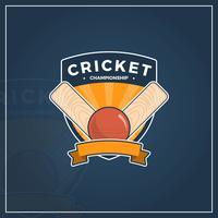 Championnat national de cricket à plat vecteur