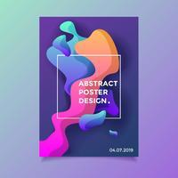 Conception de l'affiche abstraite liquide vecteur