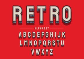 Alphabet rétro vecteur