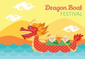 Illustration de la fête des bateaux dragons