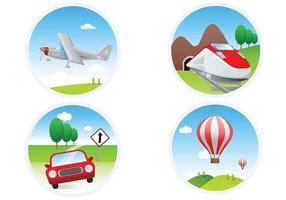Paquet vectoriel d'icônes de transport