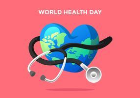 Vecteur de la journée mondiale de la santé