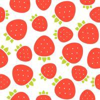 modèle sans couture de fraises pour papier peint ou papier d'emballage vecteur
