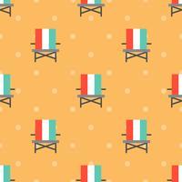 Modèle sans couture de chaise de plage pour utilisation comme cadeau de papier d'emballage