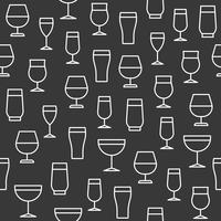 Modèle sans couture de verres à boissons pour papier peint ou papier d'emballage vecteur