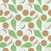 modèle sans couture de noix de coco, thème de l'île pour papier peint ou papier d'emballage vecteur