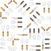 Couteau cuillère et une fourchette transparente motif pour papier peint ou papier d'emballage vecteur