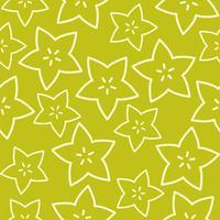 Fruit étoile contour, modèle sans couture de fruits tropicaux vecteur