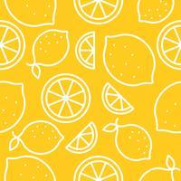 Modèle sans couture de fruits tropicaux citron vecteur