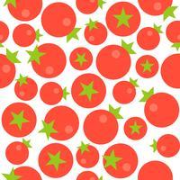 Modèle sans couture de tomate, design plat pour utilisation comme papier peint vecteur