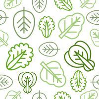 Motif végétal Outline sans couture pour papier peint ou à utiliser comme papier d'emballage vecteur