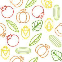 Modèle sans couture de légumes, à utiliser comme papier peint ou papier d'emballage vecteur
