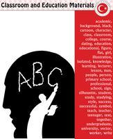 Élève, enseignant, silhouette, personnages de bande dessinée, garçon, fille, mâle, femme, enseignant, fournitures scolaires, papeterie - eps, vecteur