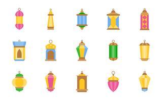 Lampe arabe ou lanterne du ramadan vecteur