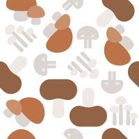 Modèle sans couture de champignon, papier peint légume design plat vecteur