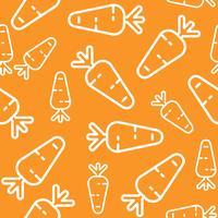 Modèle sans couture de carotte, papier peint contour de légume vecteur