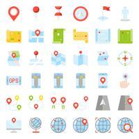 Carte, emplacement, épinglette et navigation