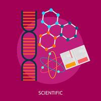 Illustration scientifique conceptuelle conception