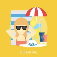 Bain de soleil Conceptuel illustration Design