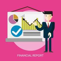 Rapport financier Illustration conceptuelle Conception