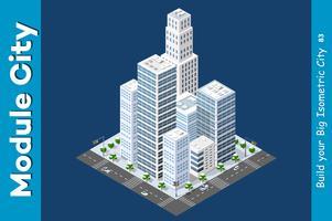 Isométrique de la ville moderne vecteur