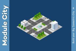 Intersection des rues de la ville vecteur