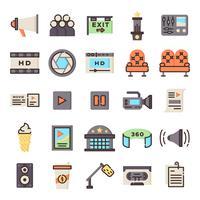 Pack d'icônes cinéma vecteur