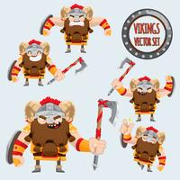 ensemble de vikings mignon vector