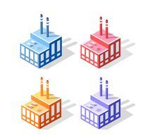 Ensemble de 3D coloré coloré vecteur