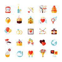 Set d'icônes de mariage