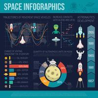 Jeu d'infographie spatiale vecteur