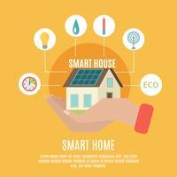 Affiche de l'icône plate concept maison intelligente