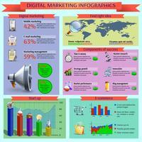 Présentation du rapport infographique sur la gestion du marketing numérique vecteur