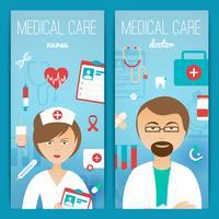Affiche de bannières de docteur en médecine