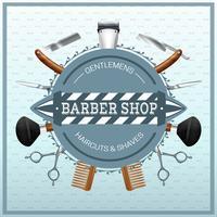 Barber Shop Concept réaliste vecteur