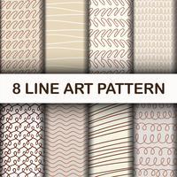 8 motif d'art de trait abstrait