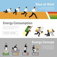 Homme d'affaires Energy Banner Set