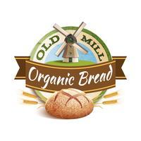 Illustration d'étiquette de boulangerie