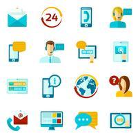 Contactez-nous Icons Set