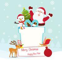 Fond de décoration de Noël et du nouvel an