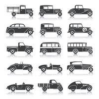 Ensemble de voitures rétro