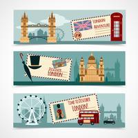 Ensemble de bannière touristique de Londres vecteur