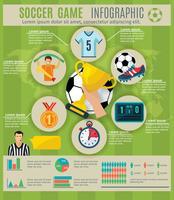 Ensemble d'infographie de football vecteur