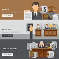jeu de bannière de loi vecteur
