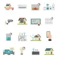 jeu d'icônes de maison intelligente
