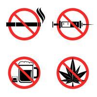 pas d'icônes de drogue vecteur