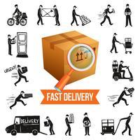 Illustration de livraison rapide